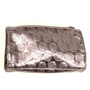 Michael Kors Silver Pewter Mini Bag Makeup